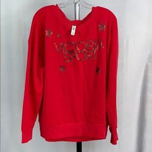 NWT Victoria Sports Logo Sweatshirt Red Size XL